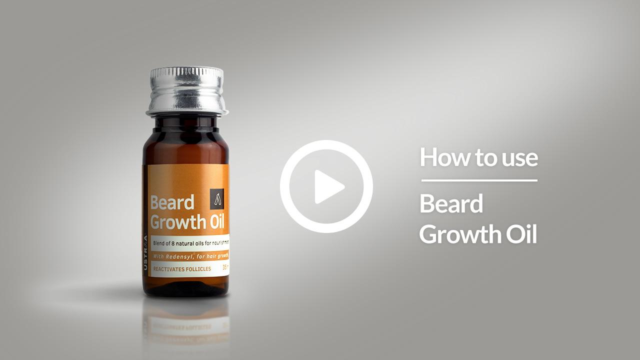 How to use USTRAA BEARD GROWTH OIL